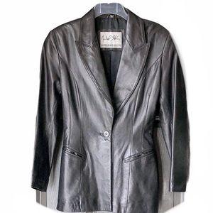 Michael Loban North Beach Leather Jacket Size 6